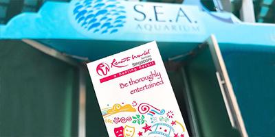 Vé tham quan Singapore Sea Aquarium giá khuyến mãi mua 4 tặng 1