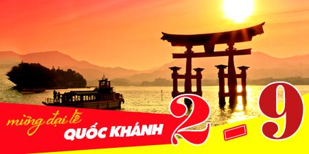 Du lịch Nhật Bản giá tốt dịp lễ 2/9 từ Tp.HCM bay Cathay Pacific