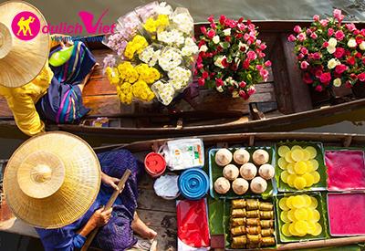 Khám phá chợ nổi cổ nhất Thái Lan Damnoen Saduak