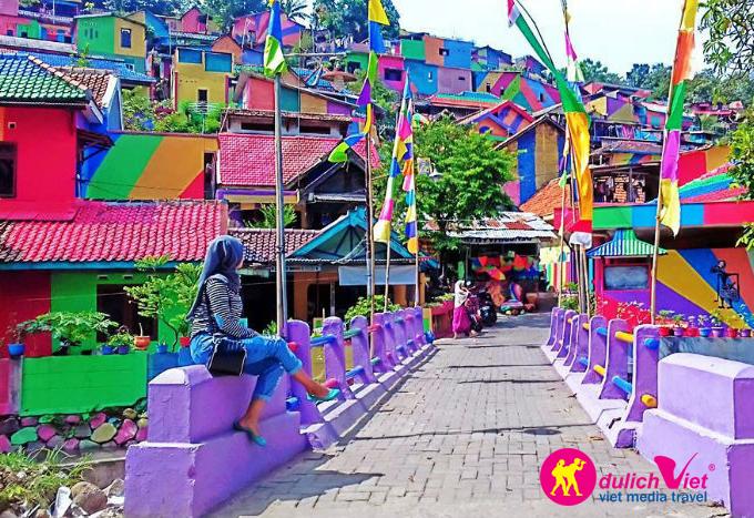 Khu ổ chuột Kampung Pelangi – Thiên đường sắc màu ở Indonesia