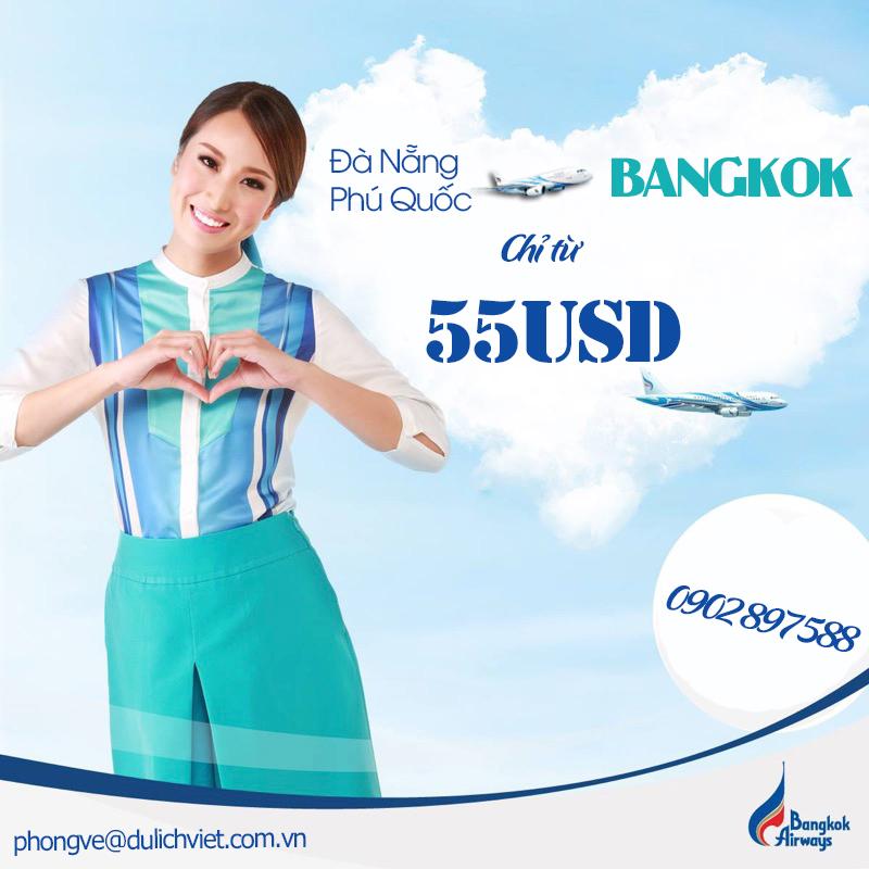 Bangkok Airways khuyến mãi vé mãy bay giá rẻ đi Thái Lan chỉ từ 55usd