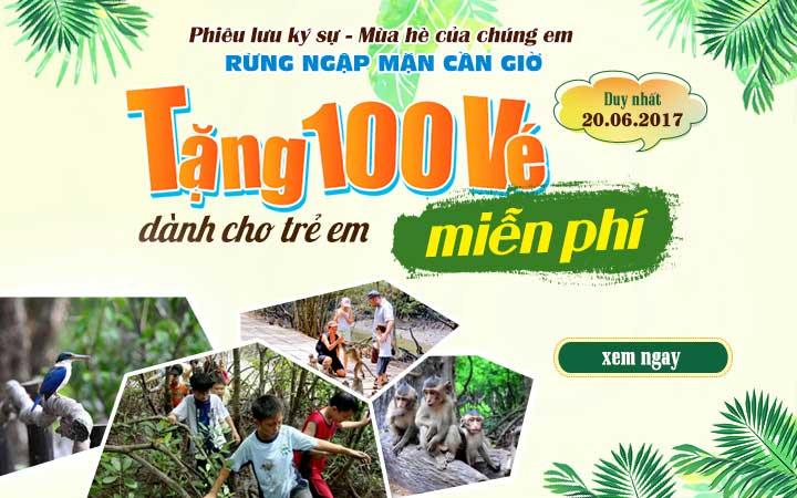 Du Lịch Việt dành tặng 100 vé tham gia Trại hè miễn phí cho học sinh