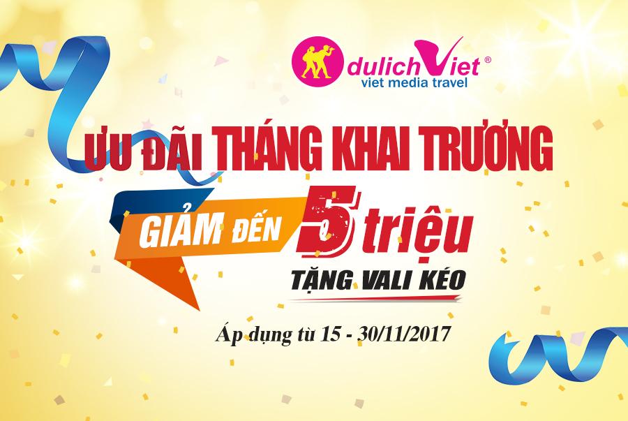 Du Lịch Việt tri ân khách hàng trong tháng khai trương
