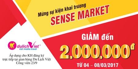 Ưu đãi riêng cho du khách tại hội chợ Sense Market