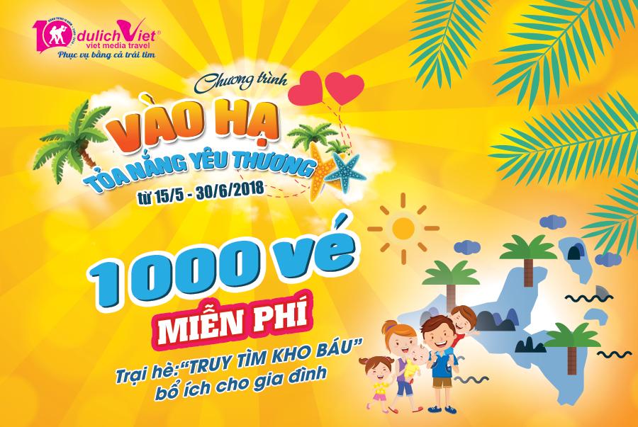 1000 vé Trại hè miễn phí cho trẻ em