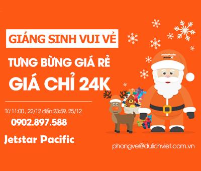 Jetstar khuyến mãi Giáng sinh vui vẻ, Tưng bừng vé rẻ, Giá chỉ 24k