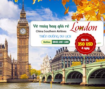 China Southern Airlines khuyến mãi vé máy giá rẻ đi London