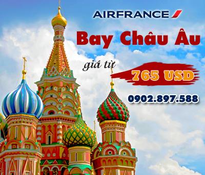 Air France khuyến mãi đặc biệt vé máy bay đi Châu Âu