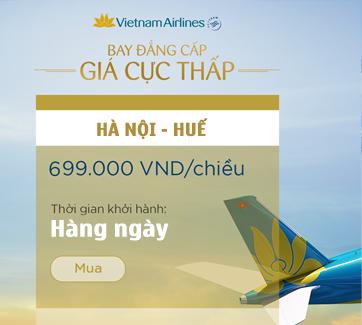 Vé Máy Bay Vietnam Airlines từ Hà Nội đi Huế hè 2016