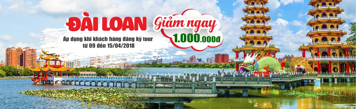 Du lịch Đài Loan giảm giá shock 1,000,000VNĐ