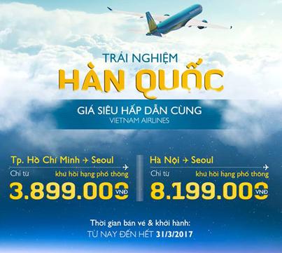 Vé máy bay du ngoạn tới Seoul giá từ 170USD
