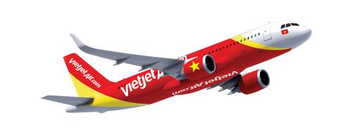 May bay Airbus A320 cua VietJet Air