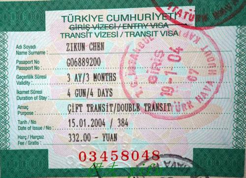 Visa di Tho Nhi Ky