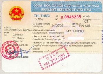 Visa nhap canh Viet Nam