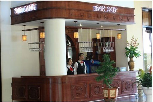Bar Cafe tai sanh cho khach san Cong Doan Thanh Binh