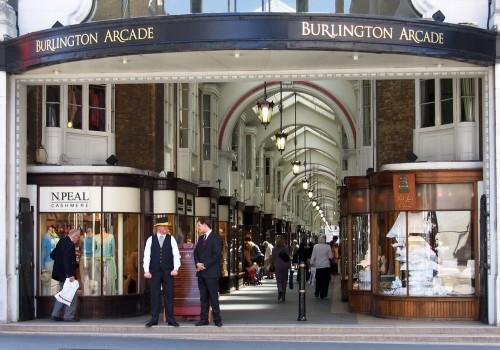 khu cua hieu sang trong burlington arcade