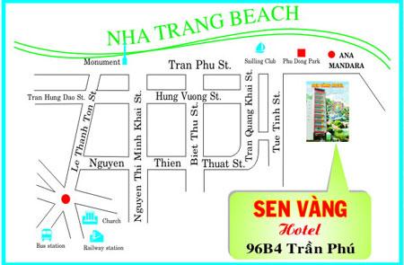 Vi tri cua khach san Sen Vang