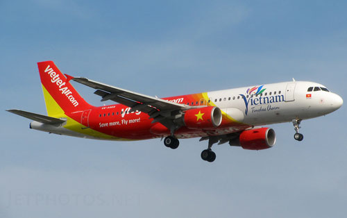 Chuyen bay VJ8851 cua VietJet Air khoi hanh tu Ha Noi di Nha Trang
