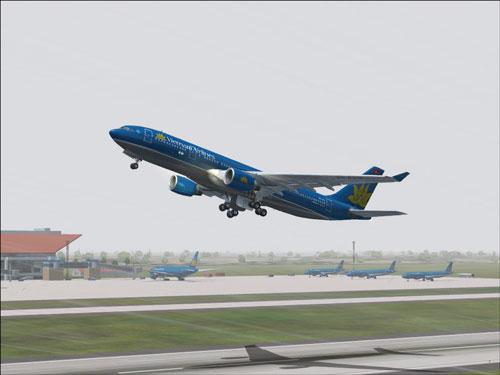 Chuyen bay VN1262 cua Vietnam Airlines khoi hanh tu Tp. HCM di Vinh moi ngay