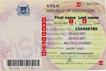 Visa di du lich tai Singapore