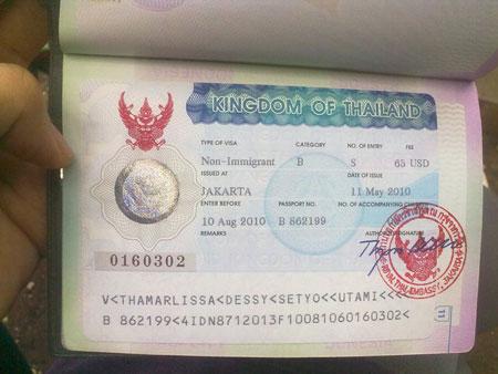 Visa di cong tac Thai Lan