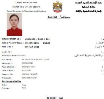 Visa di cong tac tai Dubai