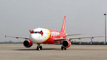 Ve may bay VietJet Air di Ha Noi