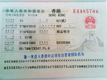 Thu tuc lam Visa di tham than tai Hong Kong