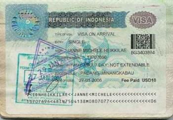 Visa di Indonesia qua canh