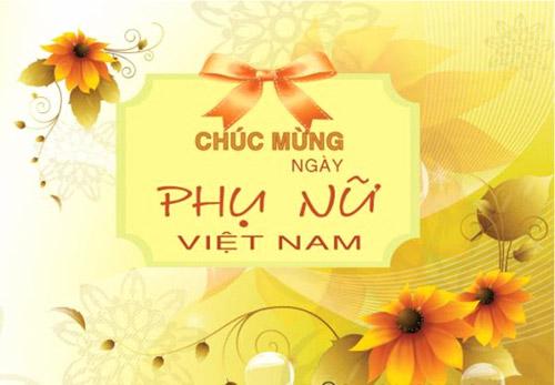 gửi lời chúc mừng nhân ngày Phụ Nữ Việt Nam 20.10.2012