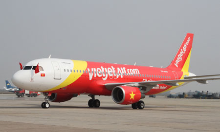 Ve may bay VietJet Air di Noi Bai