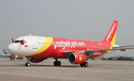Ve may bay VietJet Air di Noi Bai