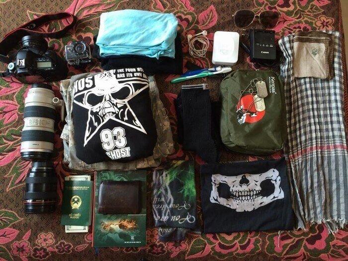 Đi du lịch châu Á chỉ mang theo vật dụng cần thiết