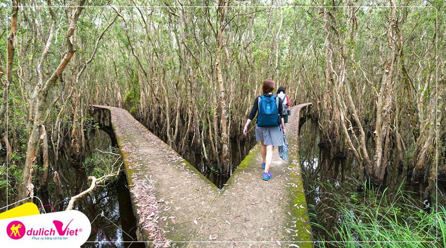 Du lịch Long An - Làng Nổi Tân Lập khám phá con đường xuyên rừng tràm đẹp nhất Việt Nam