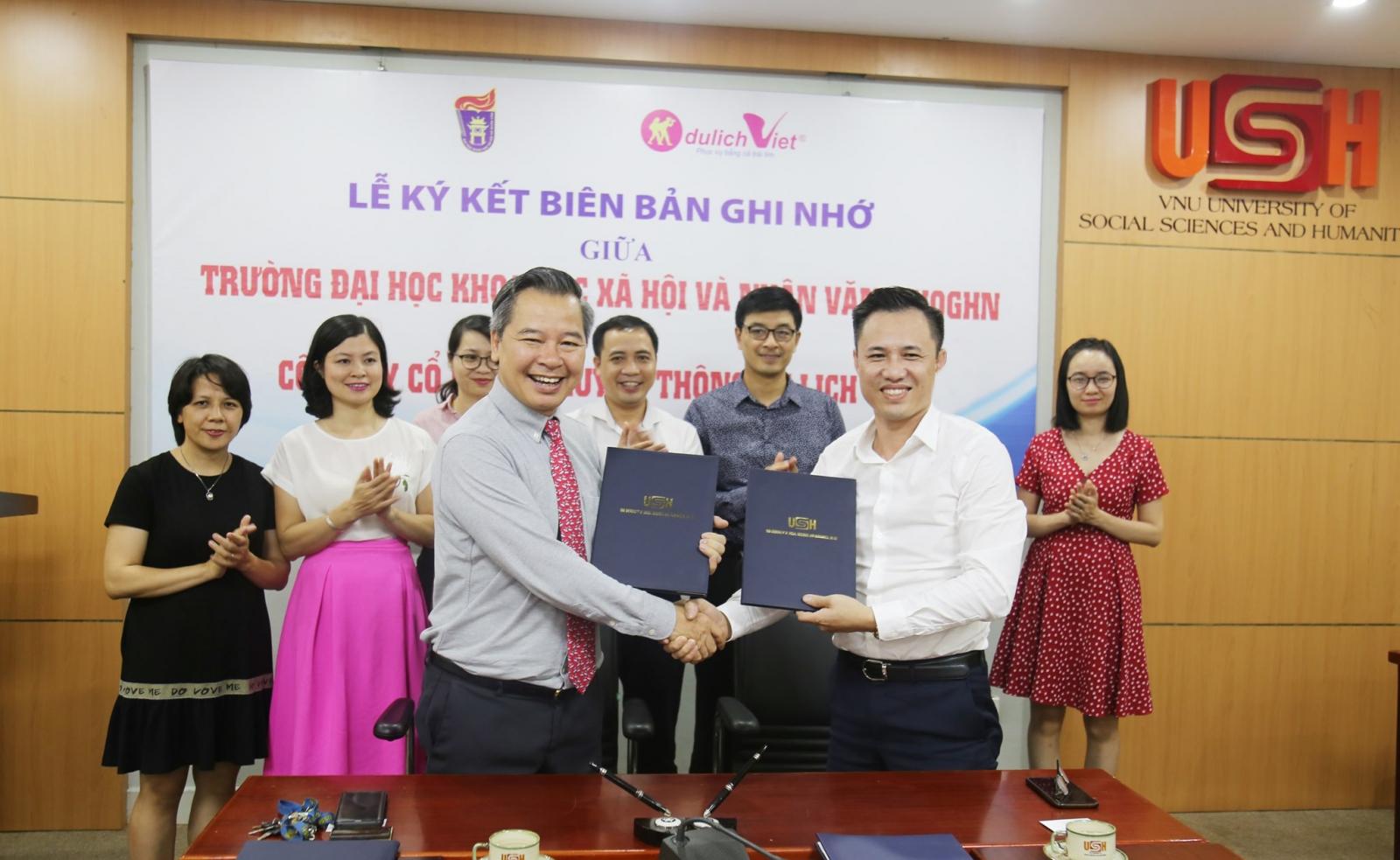 Du Lịch Việt và Trường ĐH KHXH&NV Hà Nội Ký kết Hợp tác Đào tạo Cung ứng Nguồn nhân lực chất lượng cao