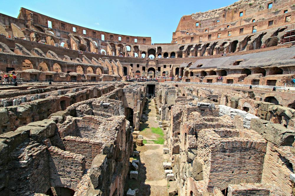 Du lịch Ý - Kiến trúc bên trong đấu trường La Mã Colosseum rất độc đáo