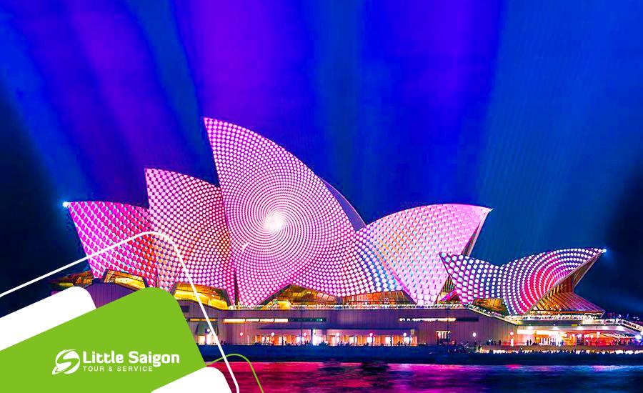 Du lịch Úc - Sydney - Canberra - Lễ hội ánh sáng Vivid Sydney từ Sài Gòn giá tốt