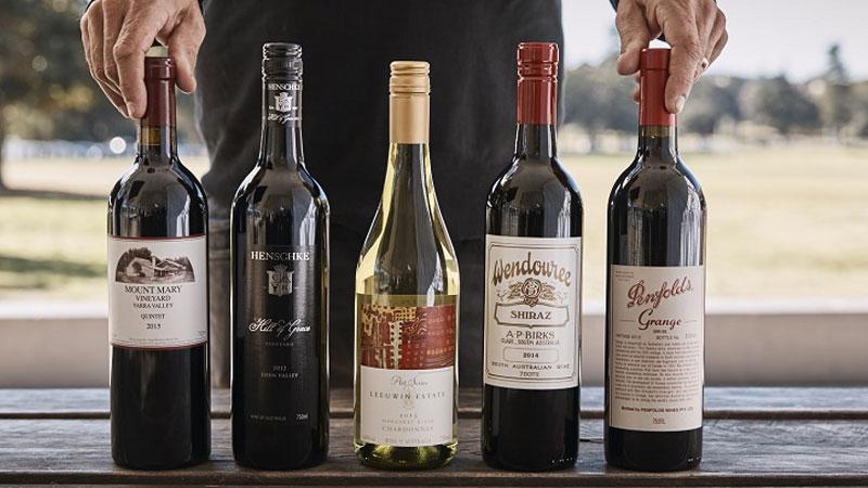 Những chai rượu vang sang trọng, tinh tế là đặc sản Úc