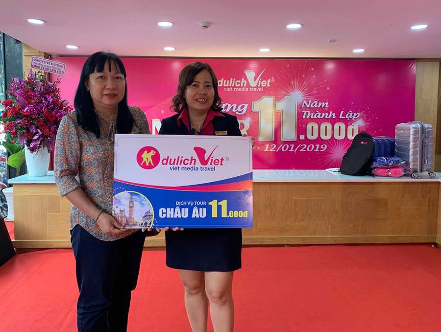 Chúc mừng khách hàng trúng Tour 11000 đồng