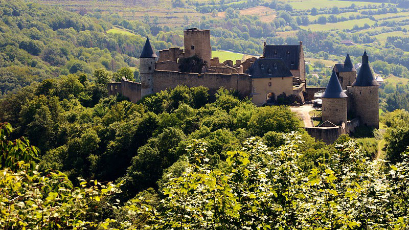 Lâu đài cổ này có cấu trúc khá độc đáo và đặc biệt