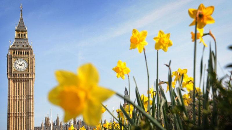 Nước Anh vào mùa xuân