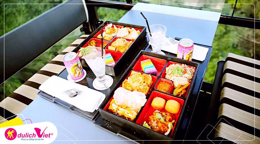 Free and Easy - Vé ăn tối trên cáp treo - Khoang Singapore Flavours