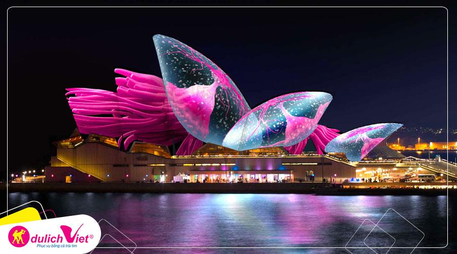 Du lịch Úc mùa Thu khám phá Lễ Hội Ánh Sáng Vivid Sydney từ Sài Gòn giá tốt