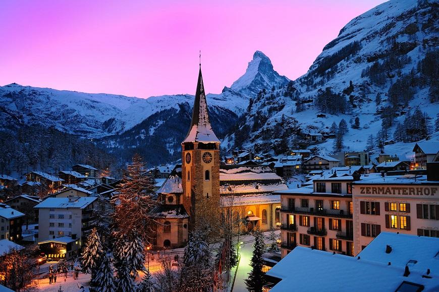 Thị trấn Zermatt thiên đường tuyết ở Thụy Sĩ