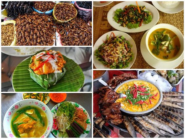Nền ẩm thực tại Campuchia cũng rất phong phú