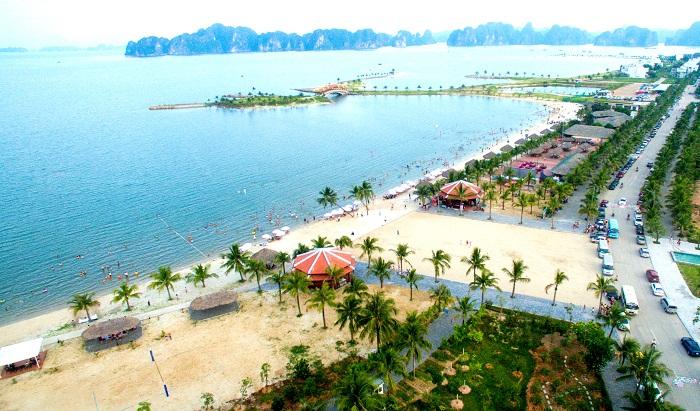 Vẻ đẹp của bãi tắm Tuần Châu trong khu du lịch đảo Tuần Châu