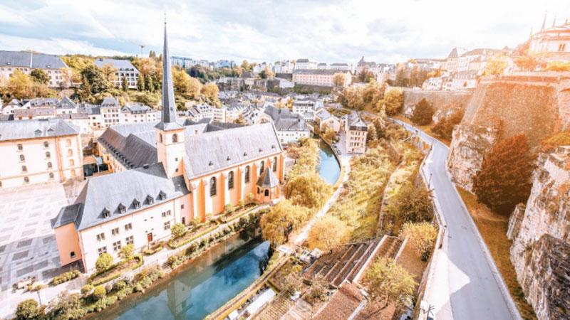 Ban công Corniche tại Luxembourg đẹp nhất ở Châu Âu