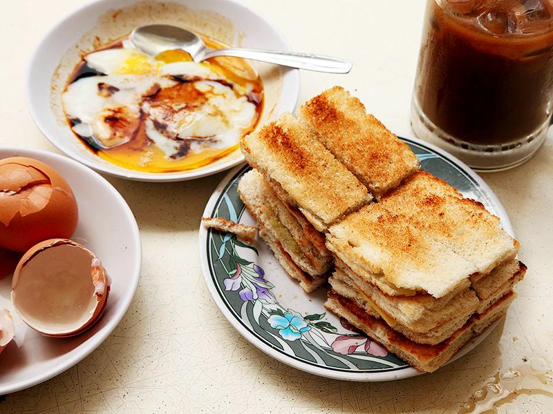 Bánh mì nướng Kaya toast