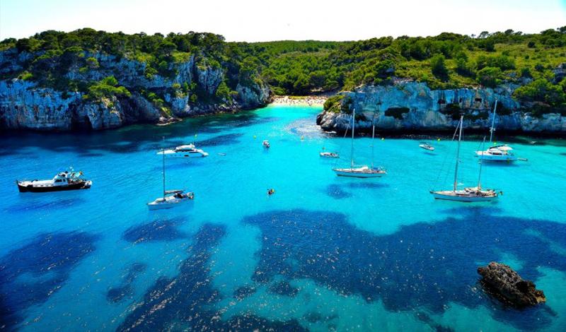 Bãi biển Cala Macarella, Menorca, Tây Ban Nha