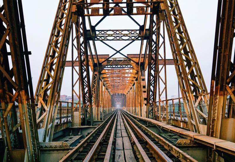 mùa thu trên cầu Long Biên